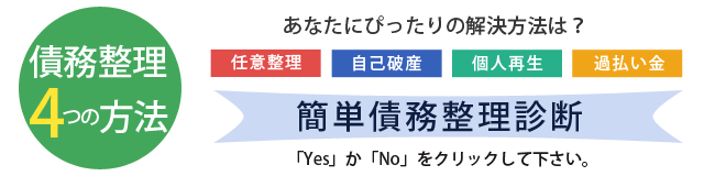 大阪 債務整理 弁護士 債務整理4つの解決方法 簡単債務整理診断